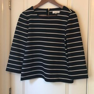 Calvin Klein Black & White Striped Blouse